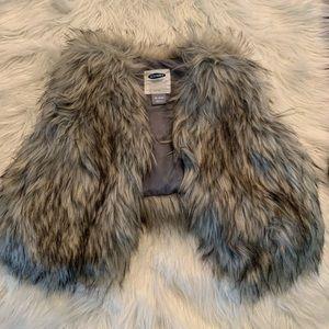 Baby girl fur vest